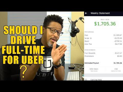Should I Drive Full-Time For Uber?