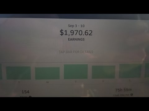 Over $2000 driving for Uber with the new surge.