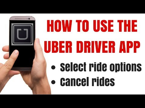 How to use the Uber app to select and cancel rides