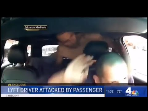 NYC Lyft Passenger Caught On Camera Attacking Driver Mid Trip