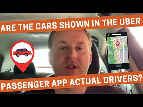Are the Cars Shown in the Uber Passenger App Actual Drivers?