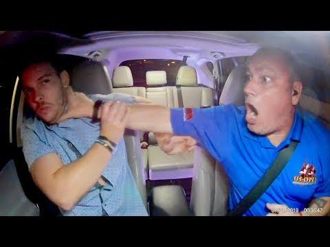 Uber Driver FIGHTS BACK Against Passenger Attack